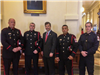 Honor Guard in Austin for State Firefighter Memorial with Representative David Simpson