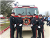 Honor Guard Poses in Front of Fire Engine