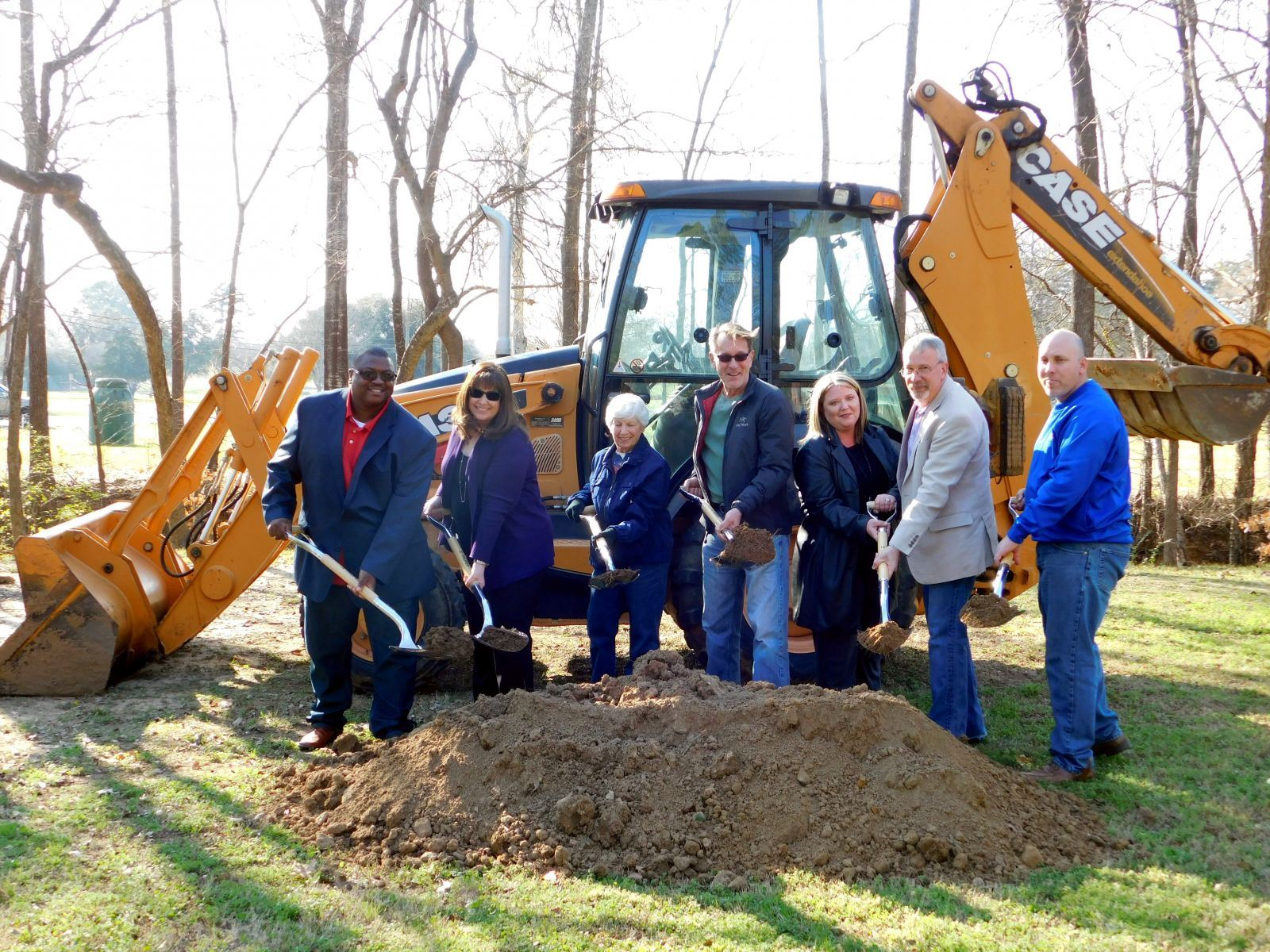 Groundbreaking of the Creekside Trail