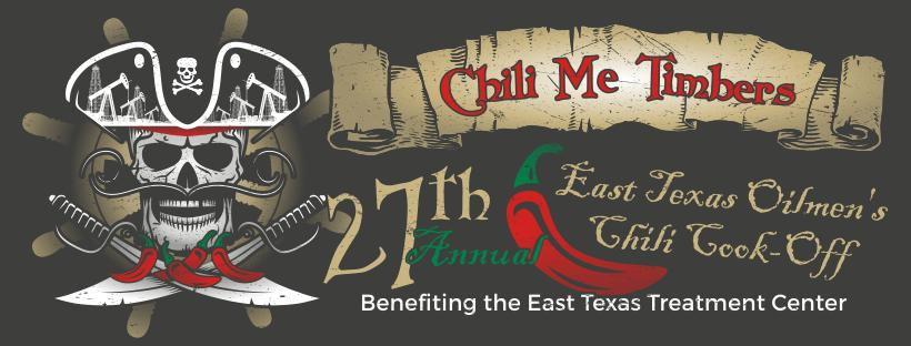 Chili Me Timbers 27th Annual East Texas Oilmen's Chili Cook-Off. Benefiting the East Texas Treatm