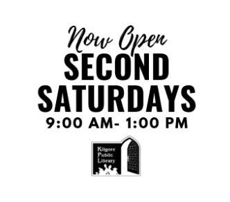 Now Open 2nd Saturdays