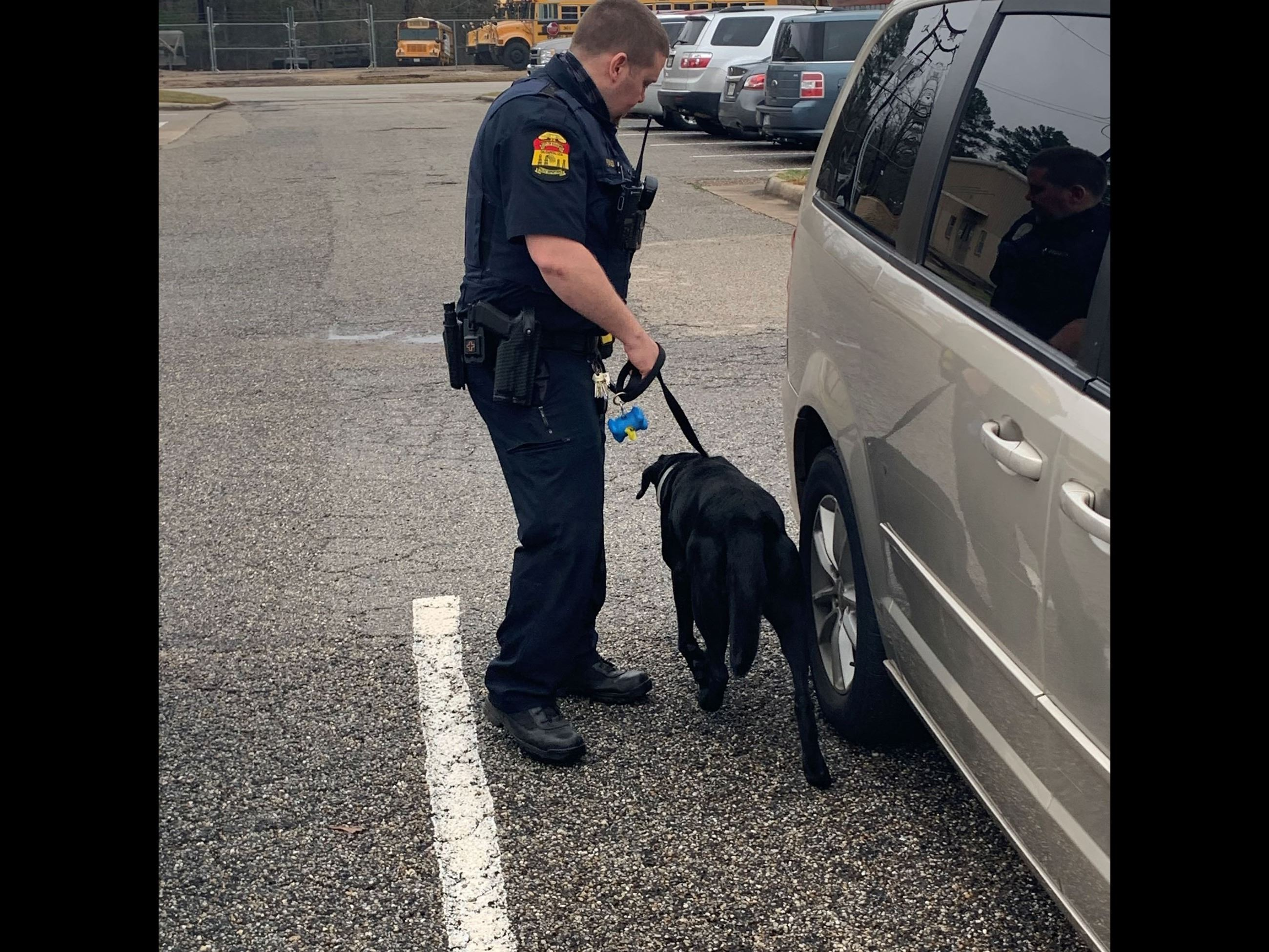 KPD Officer Forbes and K9 Ruger vehicle sniff