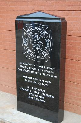 The Fallen Firefighter Monument Located at Station 2