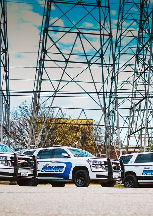 Kilgore Police vehicles in a row