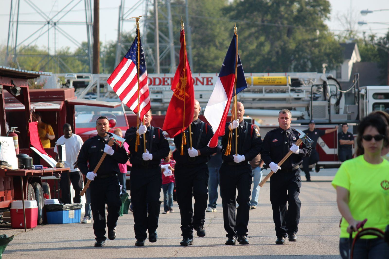 Fire Department Honor Guard Marching
