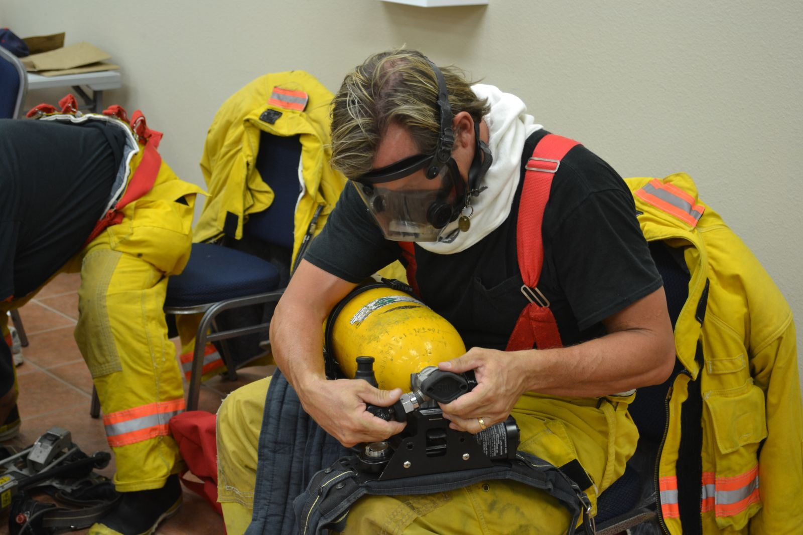 Issuing Personal Firefighting Gear