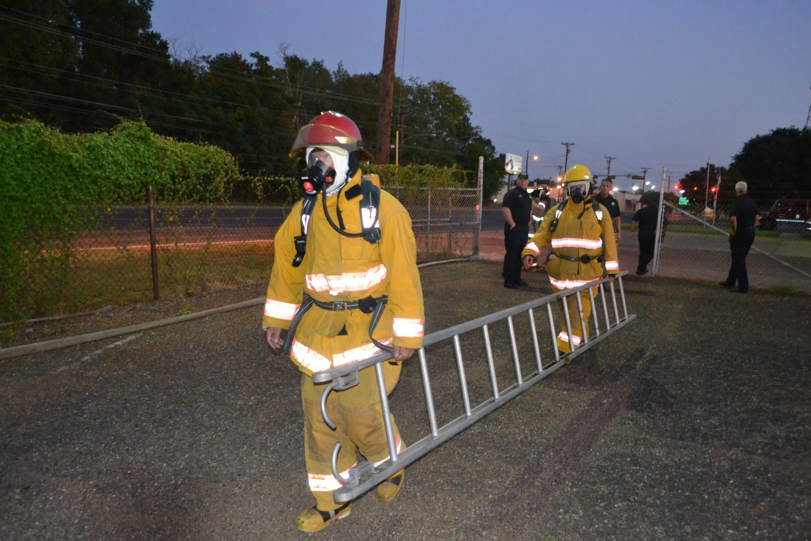 Working with Ladders in Firefighting Gear