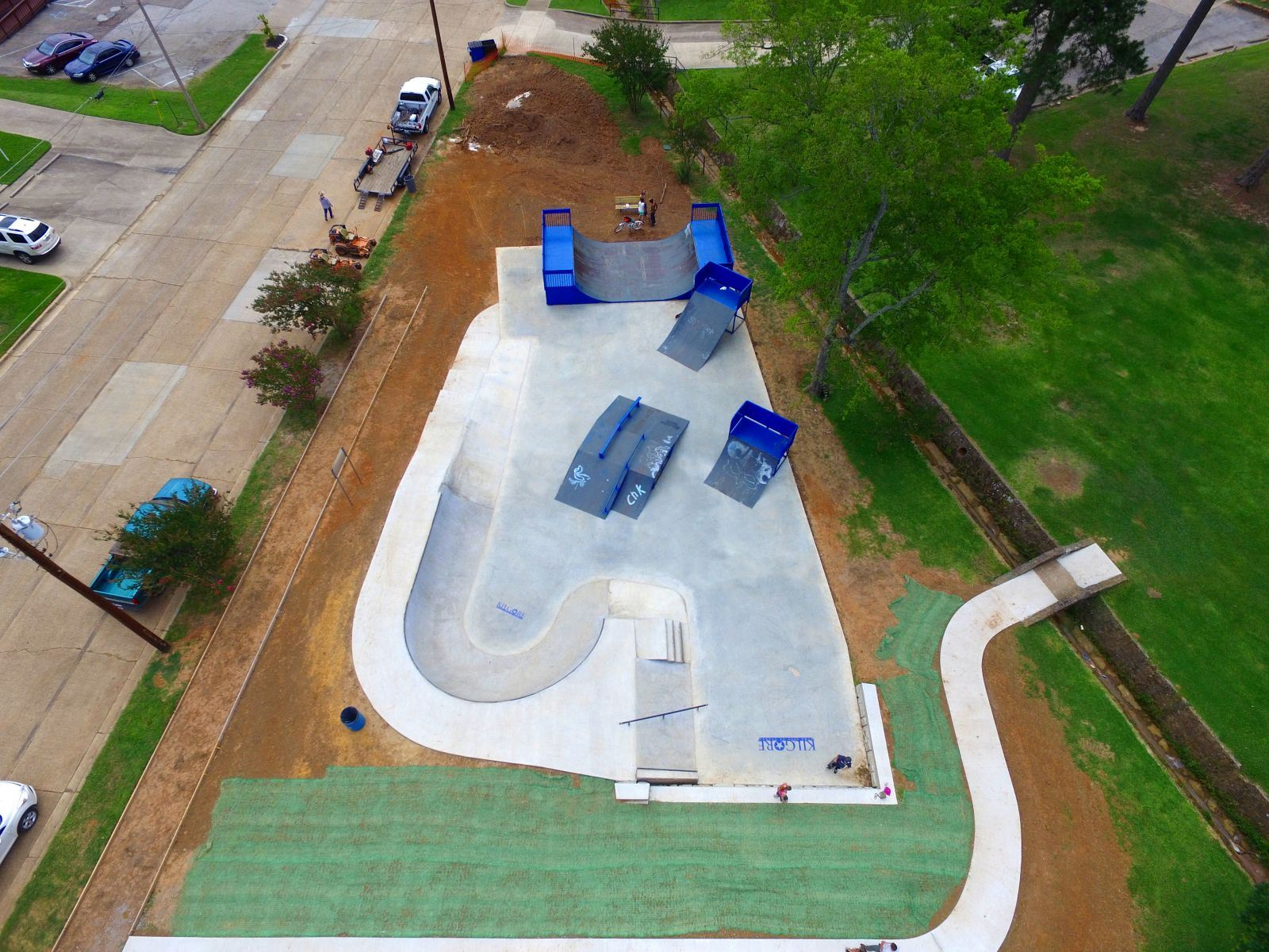 Aerial View of the Skate Park