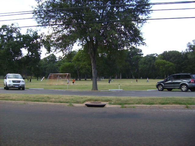 Across the Street View of Meadowbrook Parks Soccer Field