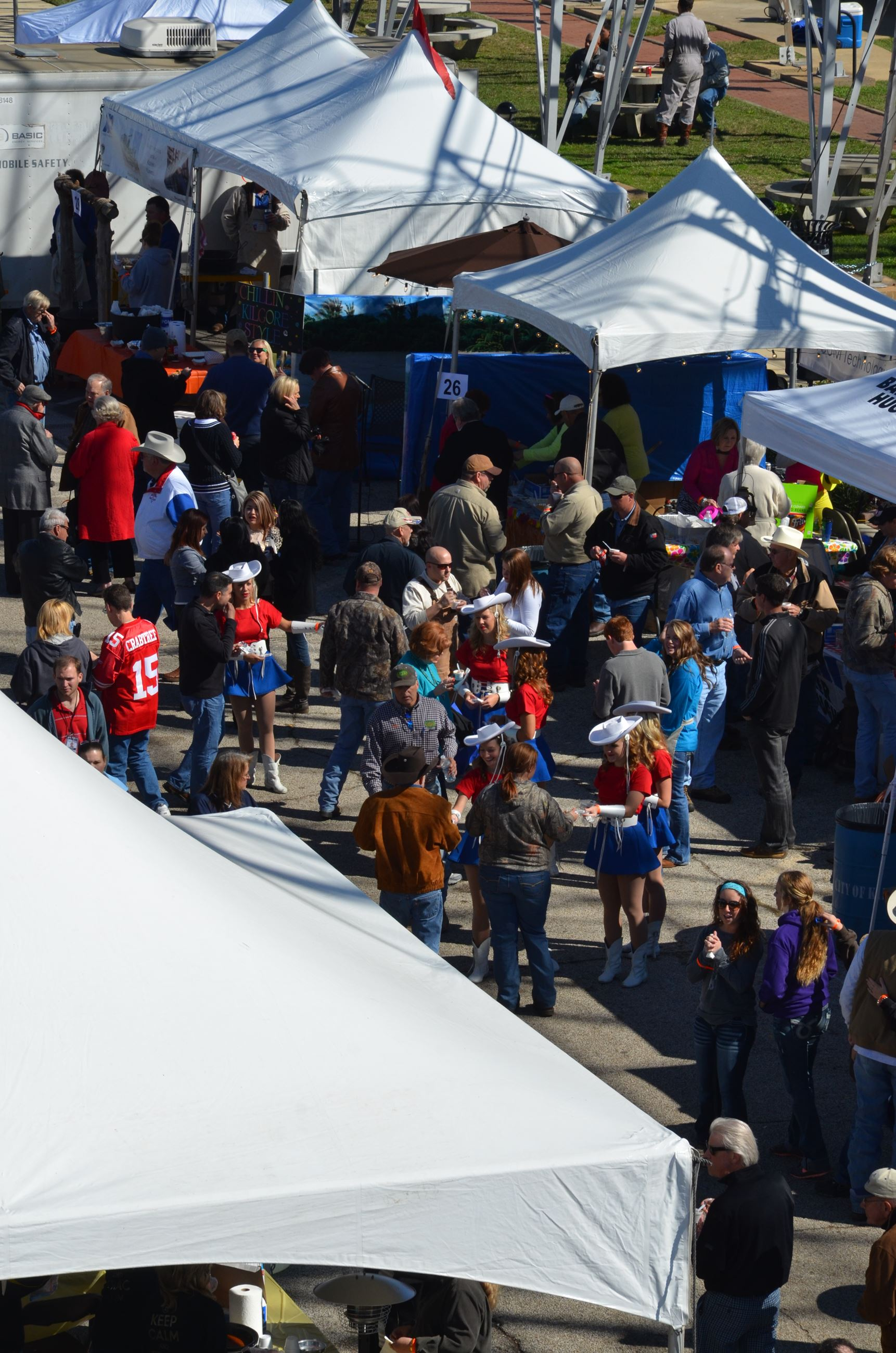 Aerial View of Oilmens Chili Cook-Off