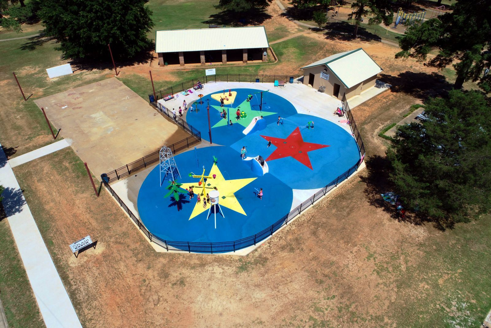 Aerial View of the Lazy Ranch Splash Park