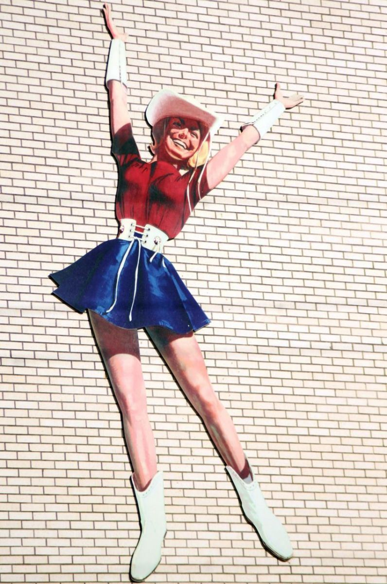 Rangerette Mural on a Brick Wall