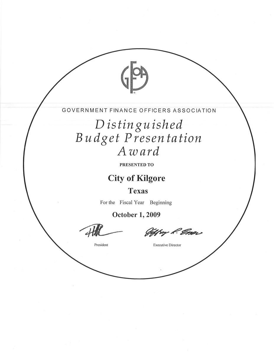 Distinguished Budget Presentation Award (JPG) Opens in new window